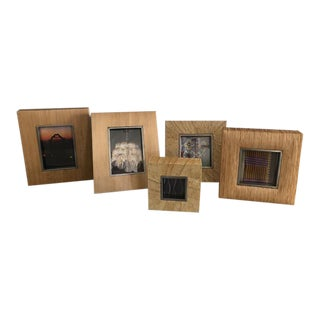 Kreiss Natural Woven Photo Frames - Set of 5 For Sale