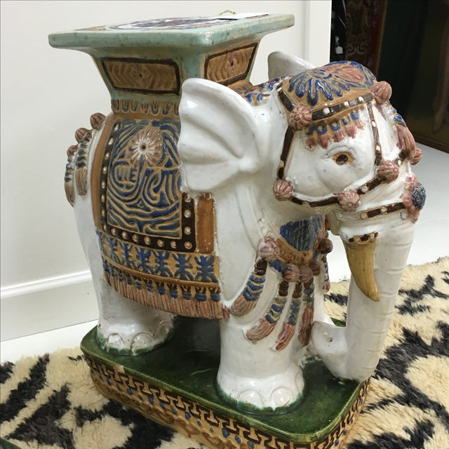 Vintage Elephant Garden Stools - A Pair For Sale - Image 5 of 6