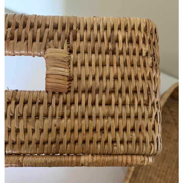 Rattan Woven Baskets - a Pair For Sale In New York - Image 6 of 11