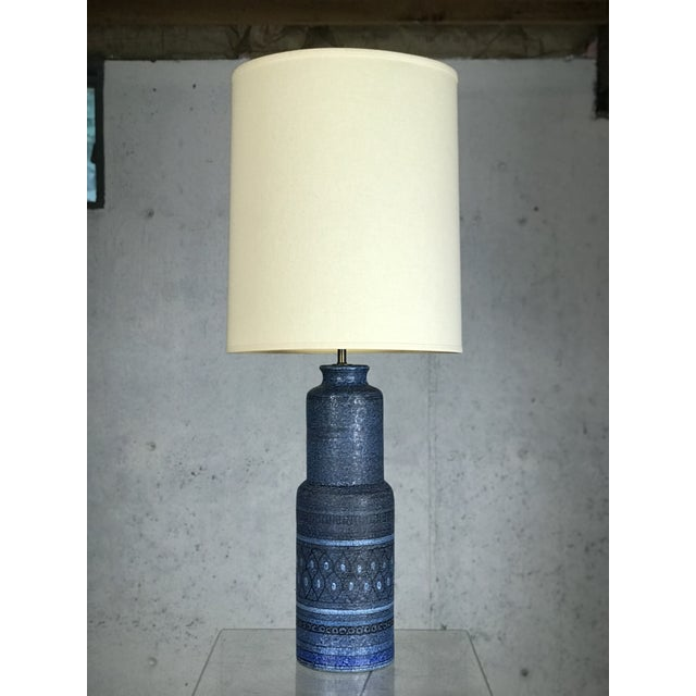 Monumental 1960's Italian Ceramic Table Lamp by Bitossi for Raymor For Sale - Image 12 of 12