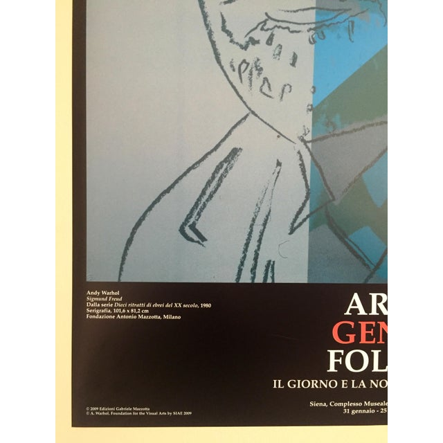 Andy Warhol Sigmund Freud Original Offset Lithograph Print Poster 1980 For Sale - Image 5 of 9