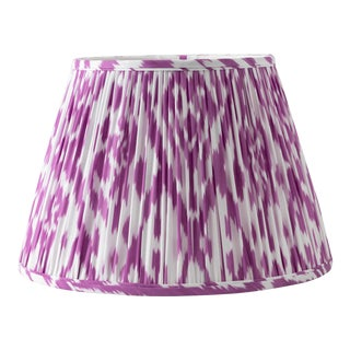 "Pointed Ikat in Purple 14"" Lamp Shade, Purple For Sale"