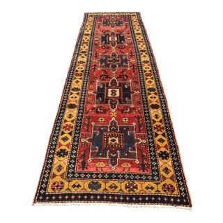 """Vintage Persian Karajeh Runner - 3'5"""" x 10'7"""""""