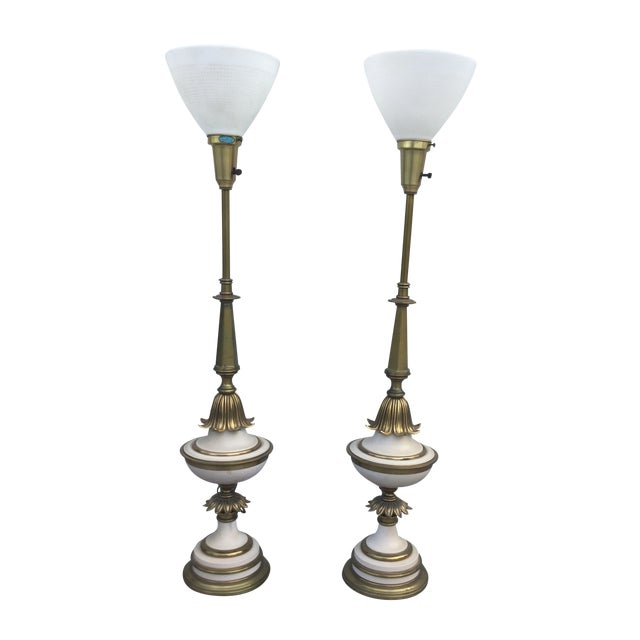 1960's Stiffel Hollywood Regency Table Lamps For Sale