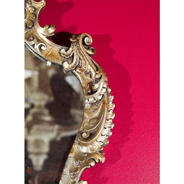 French Rococo Style Mirrored Sconces - A Pair For Sale - Image 5 of 6