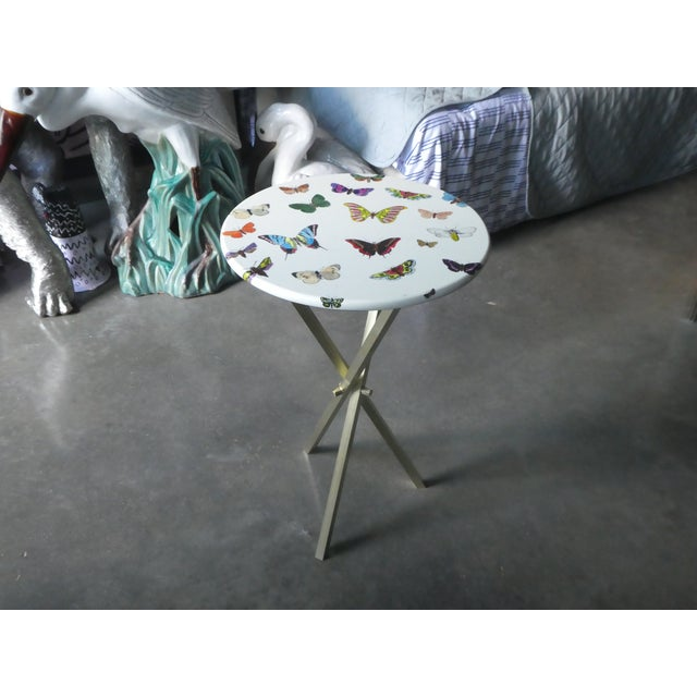 Piero Fornasetti 1960s Mid-Century Modern Fornasetti Butterfly Side Table For Sale - Image 4 of 9