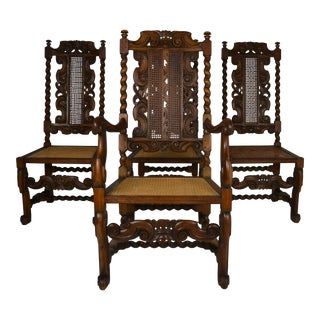 Hayden Company Charles II Style Chairs- Set of 4 For Sale
