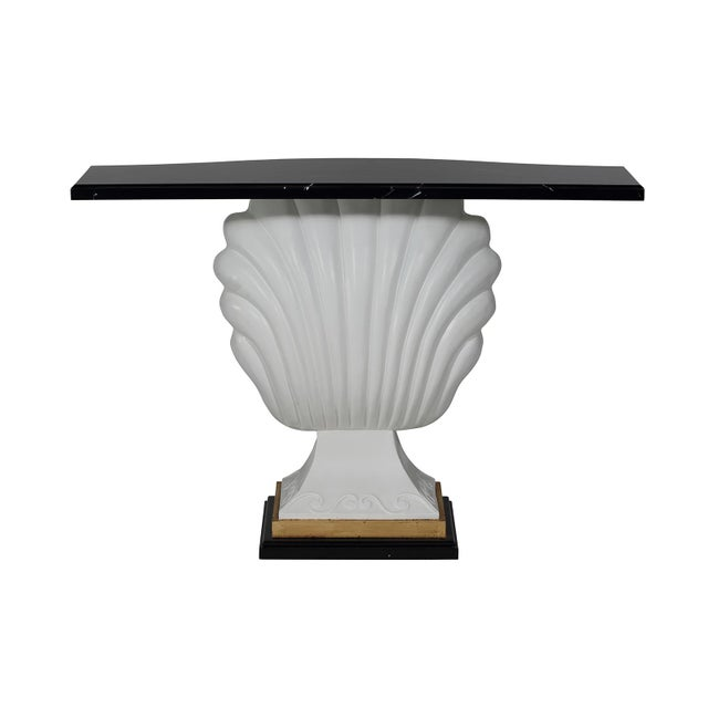 Black & White Shell Console Table - Image 3 of 6