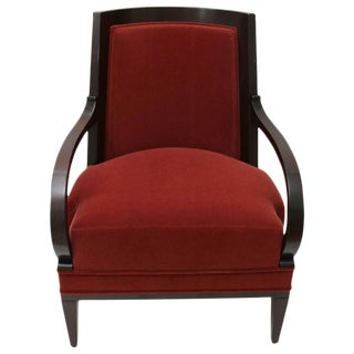 Andre Arbus Armchair for William Switzer in Rust Mohair Upholstery Fabric For Sale