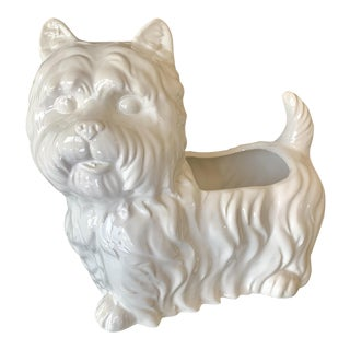 Vintage Terrier Planter For Sale