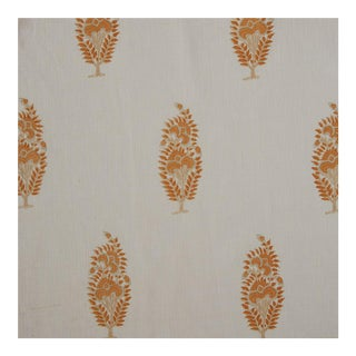 Elizabeth Eakins Catherine Darby Mandarin Fabric- 1 3/4 Yards For Sale
