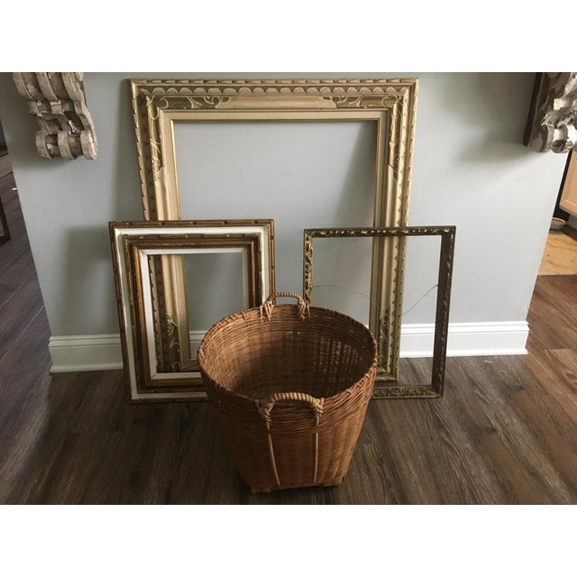 Wood Large Midcentury Frame For Sale - Image 7 of 9