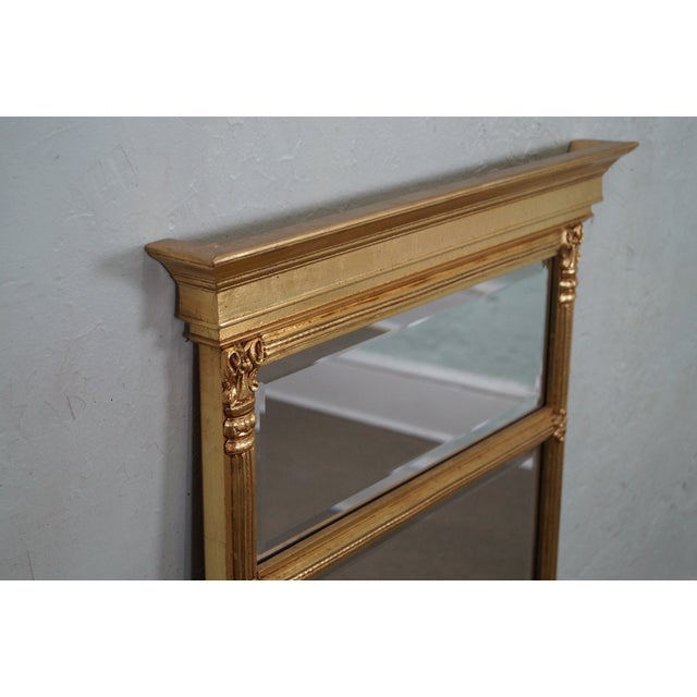 Italian Made Gilt Federal Hanging Wall Mirror - Image 5 of 10