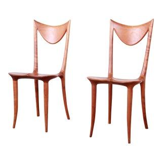 "Oskar Kogoj Studio Craftsman Sculptural ""Venetia"" Chairs, Pair For Sale"