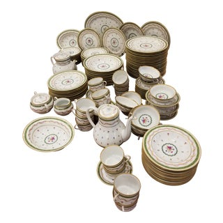 Haviland Vieux Paris Limoges Bone China Dinnerware Set - 115 Piece. Set For Sale