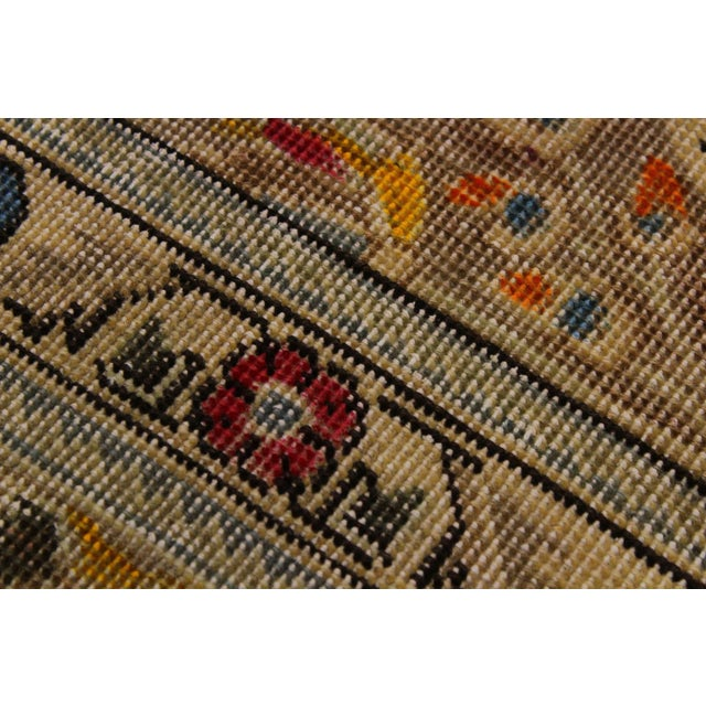 Textile Hand Painted Solis Wool Rug - 9′8″ × 12′4″ For Sale - Image 7 of 8