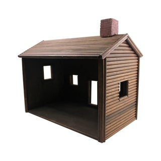 1900s Huge Log Cabin Dollhouse For Sale