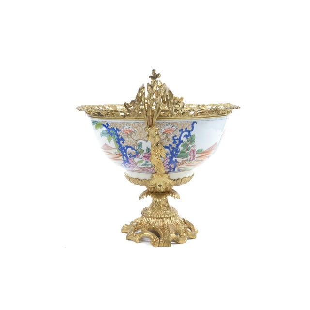 Mid 19th Century French Chinoiserie Gilt Bronze Mounted Bowl For Sale - Image 5 of 9
