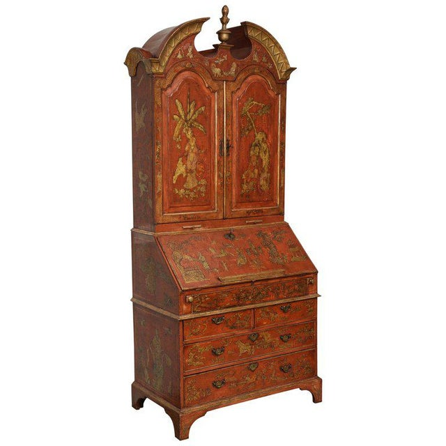 Extraordinary George III Lacquered Secretary For Sale - Image 13 of 14