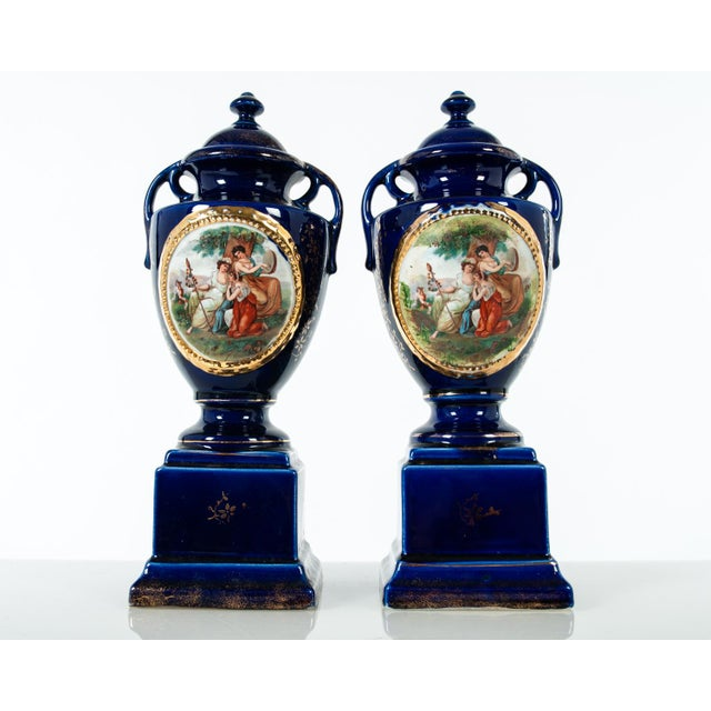 Late 19th Century Antique English Three-Piece Decorative Clock Set With Two Urns - Set of 3 For Sale - Image 4 of 5