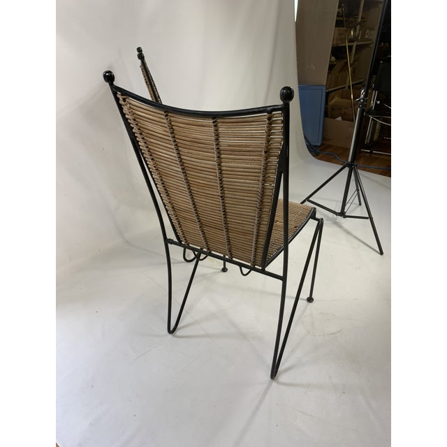 1960s Ficks & Reed Mid-Century Modern Bamboo & Rod Iron Dining Chairs - Set of 2 For Sale - Image 5 of 11