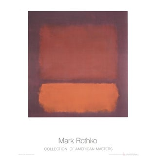 """Mark Rothko """"Untitled"""" (1962) Poster For Sale"""
