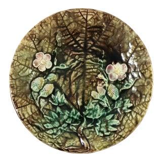 Majolica Large Leaf Plate For Sale