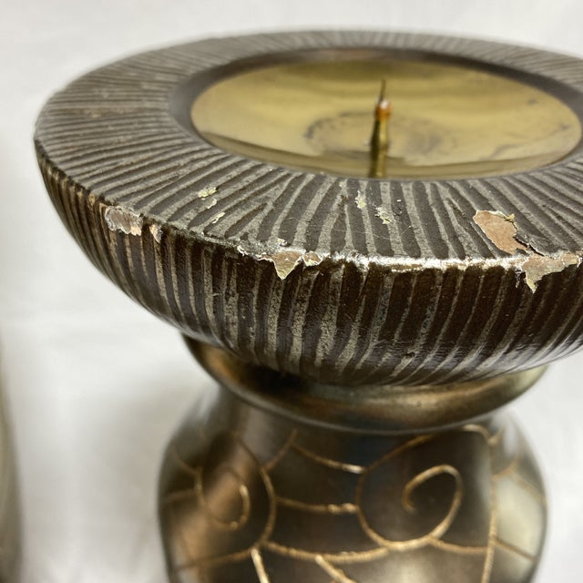Silver Leaf Artmax Candlesticks - a Pair For Sale - Image 9 of 12