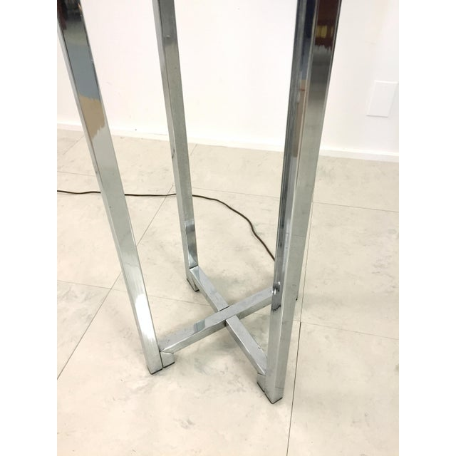 Vintage Chrome Drum Shade Floor Lamp For Sale In Milwaukee - Image 6 of 7