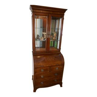 Heckman Secretary Display Cabinet For Sale