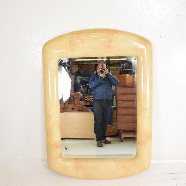 Robert Scott & Associates Inc. Mid-Century Modern Goatskin Mirror After Karl Springer For Sale - Image 9 of 11