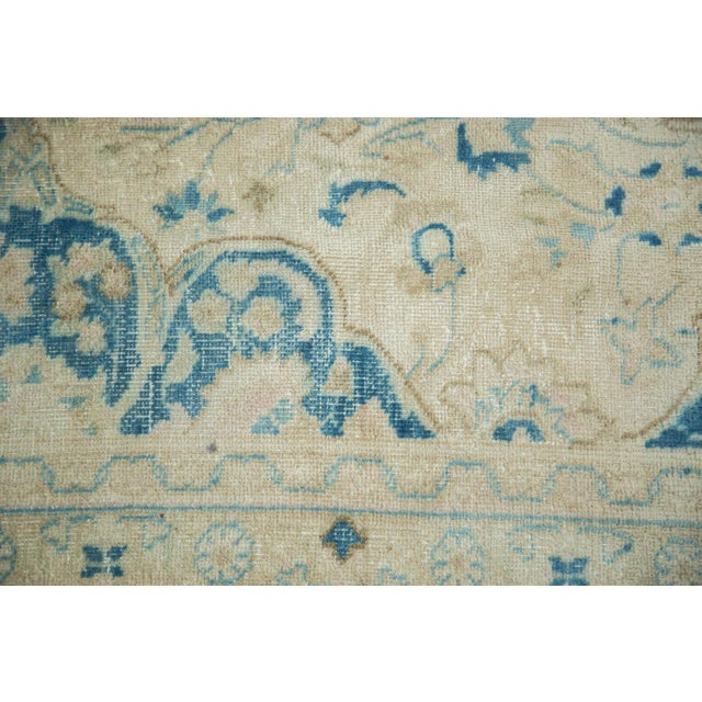 "Vintage Distressed Meshed Carpet - 9'9"" x 12'10"" For Sale - Image 5 of 9"