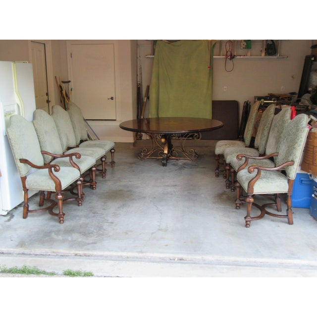 19th C. Walnut & Stellar Parq Nook Table -Set of 9 - Image 5 of 5