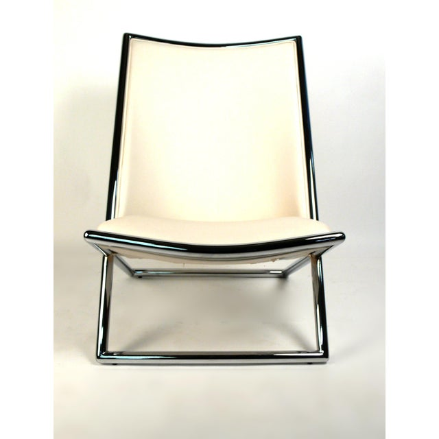 Animal Skin Scissor Lounge Chairs by Ward Bennett For Sale - Image 7 of 9