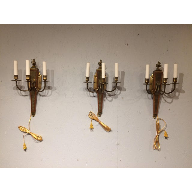 Metal Andre Arbus Wall Sconces - Set of 3 For Sale - Image 7 of 7