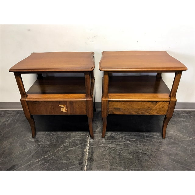 Davis Cabinet Co French Provincial Nightstands - A Pair - Image 8 of 11