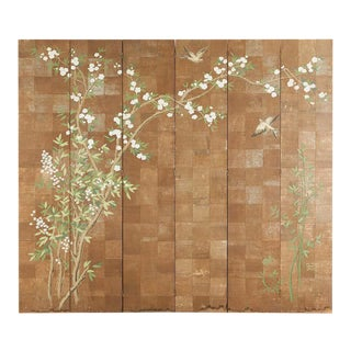 Chinoiserie Six-Panel Screen Inspired by Robert Crowder For Sale