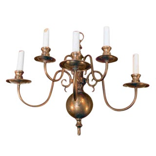 Five-Arm Copper Finish Colonial Sconce