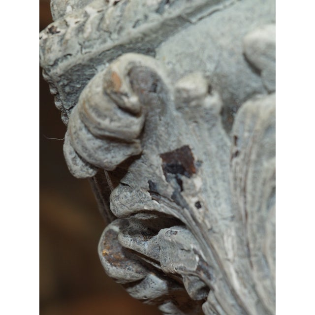 2000s Italian Carved Wood Lantern For Sale - Image 5 of 9
