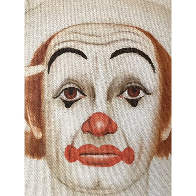 Late 20th Century Original 20th Century Tangerine Clown Painting For Sale - Image 5 of 8