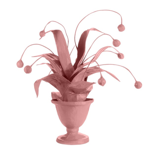 Contemporary Stray Dog Designs for Chairish Crunchberry Faux Plant, Pink For Sale - Image 3 of 3