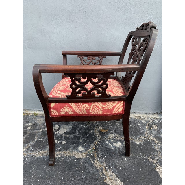 Antique Jacobean Accent Chair For Sale - Image 9 of 13