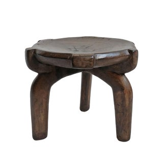 Tanzania Hehe Wood Stool Small For Sale