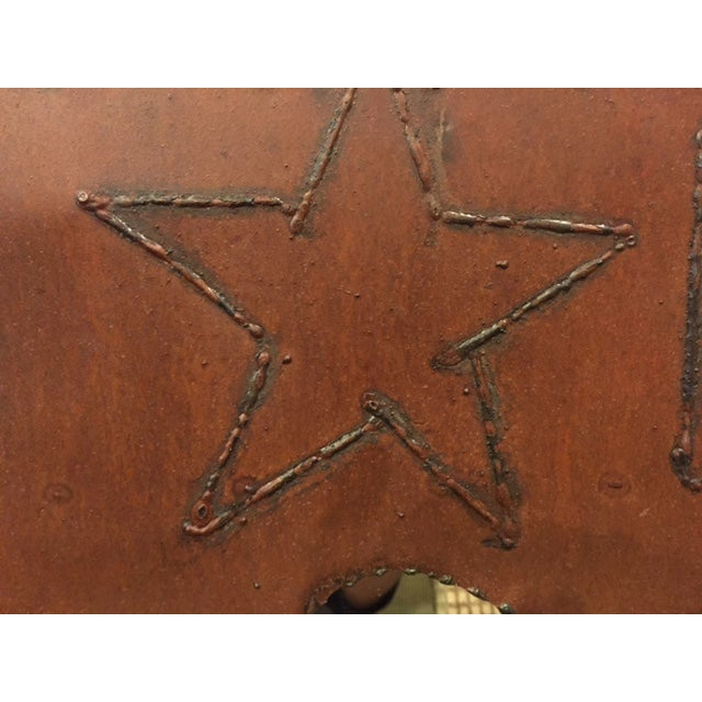 Rustic Brutalist Steel & Iron Mirror - Image 5 of 6