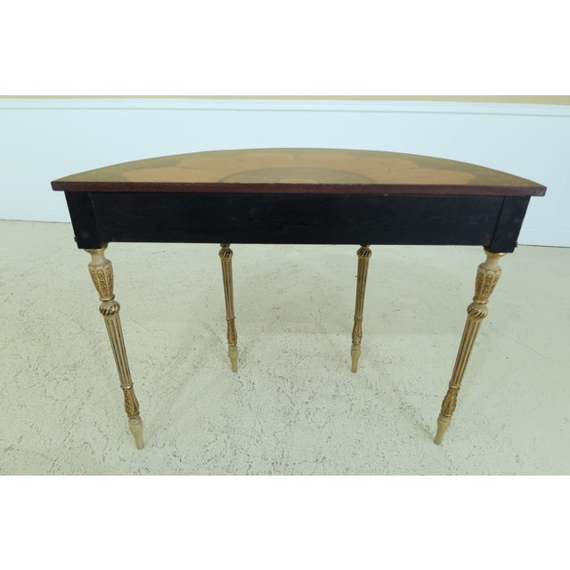 Gorgeous Highly Inlaid Paint Decorated Adam Console Table For Sale - Image 10 of 12