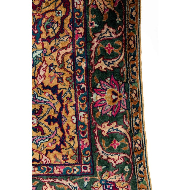 Islamic Persian Pure Silk Hand Knotted Area Rug - 5′2″ × 8′2″ For Sale - Image 3 of 10