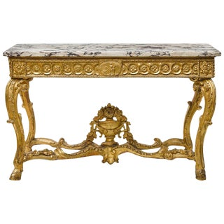 Italian Neoclassical Giltwood Console, 18th Century For Sale