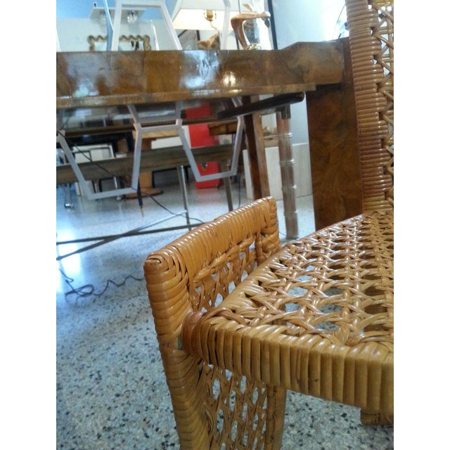 Mid-Century Modern Danny Ho Fong Dining Chairs Rattan Caning - Set of 6 For Sale - Image 11 of 13