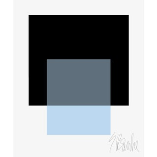 """The Interaction of Black and Powder Blue Fine Art Print 40"""" X 50"""" by Liz Roache For Sale"""