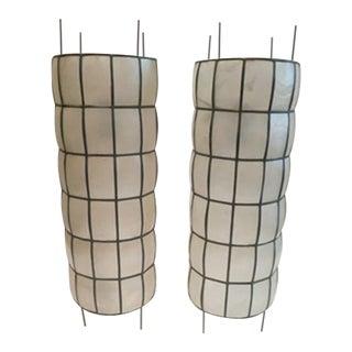 Mid-Century Capiz Table Lamps - a Pair For Sale